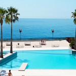 stunning front sea view, pool e private beach from the terrace